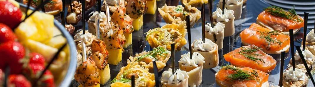 Empfang Impression Finger Food