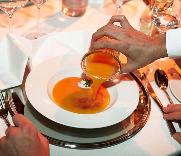 Weihnachtsfeier Menü Suppe