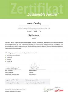 Zertifikat Sustainable Partner